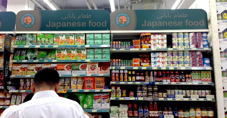 ドバイ ハイパーマーケット 日本食品コーナー