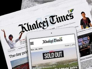 ドバイに本社を置くGCC有力紙Khaleej Timesへの広告枠のご案内の画像